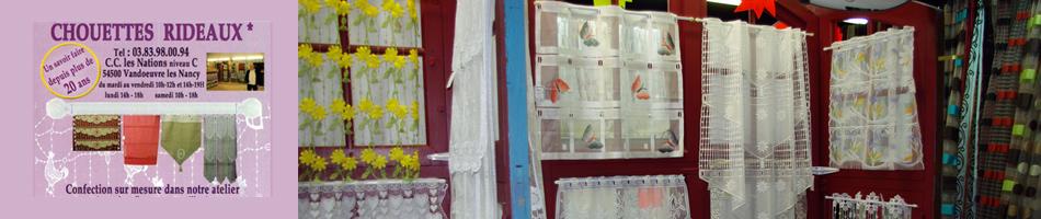 Chouettes rideaux